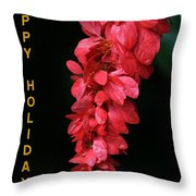 Red Holiday Greeting Card Throw Pillow