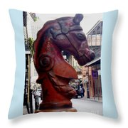 Red Horse Head Post Throw Pillow