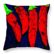 Red Hot Chili Throw Pillow