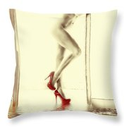 Red Hot Fire And Flood Throw Pillow