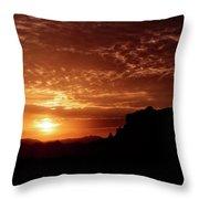 Red Hot Sunrise  Throw Pillow