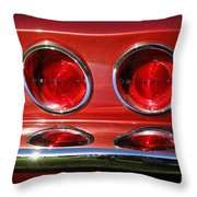 Red Hot Vette Throw Pillow