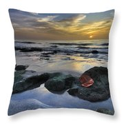 Red Leaf At Dawn Throw Pillow