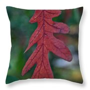 Red Leaf Hanging Throw Pillow
