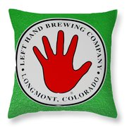 Red Left Hand Throw Pillow
