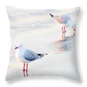 Red Legs And Lipstick Throw Pillow