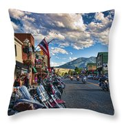 Red  Lodge Motorcycle Rally Throw Pillow