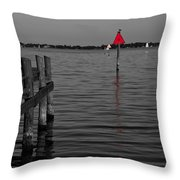 Red Marker 6 Throw Pillow