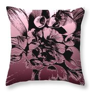 Red Metallic Dahlia Named Who Dun It Throw Pillow