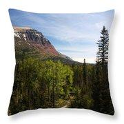 Red Mountain Blue Sky Throw Pillow