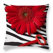 Red Mum And Red Key Throw Pillow