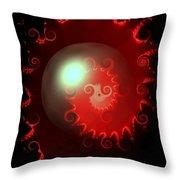Red Nautilus Throw Pillow