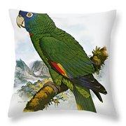 Red-necked Amazon Parrot Throw Pillow