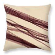 Red Nylon Fibers Throw Pillow