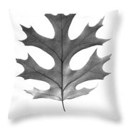 Red Oak Leaf Throw Pillow