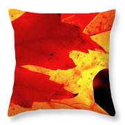 Red On Gold Throw Pillow