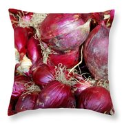 Red Onions Throw Pillow