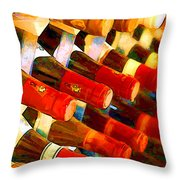 Red Or White Throw Pillow by Elaine Plesser