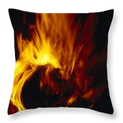 Red, Orange And Yellow Flickering Throw Pillow