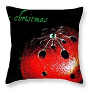 Red Ornament Throw Pillow