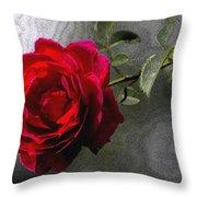 Red Paris Rose Throw Pillow