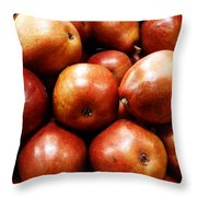 Red Pears Throw Pillow