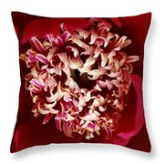 Red Peony Flowers Series 5 Throw Pillow