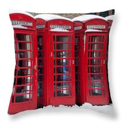 Red Phone Boxes Throw Pillow