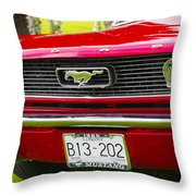 Red Pony Car Throw Pillow
