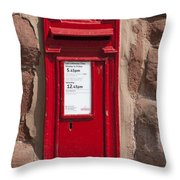 Red Postbox Throw Pillow