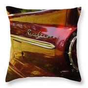 Red Ranchero And Round Taillight Throw Pillow