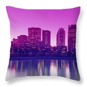 Red River And Downtown Winnipeg Throw Pillow