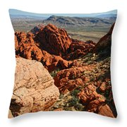 Red Rock Canyon At The Tank Throw Pillow