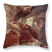 Red Rock Canyon Petroglyphs Throw Pillow
