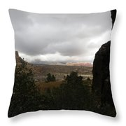 Red Rock Canyon View Throw Pillow