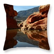 Red Rock Canyon Water Throw Pillow