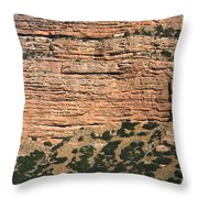 Red Rock Cliffs Along The Hood River Throw Pillow