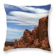 Red Rock Cliffs Valley Of Fire Nevada Throw Pillow