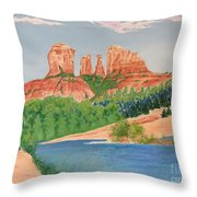 Red Rock Crossing Throw Pillow by Aimee Mouw