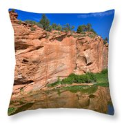 Red Rock Formation In The Kaibab Plateau In Grand Canyon National Park Throw Pillow
