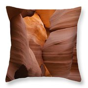 Red Rock Formations, Antelope Canyon Throw Pillow