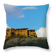 Red Rock In New Mexico Throw Pillow