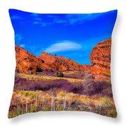 Red Rocks Park Colorado Throw Pillow
