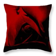 Red Rose Close Up 2011 In Red Throw Pillow