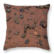 Red Sand And Rocks Throw Pillow
