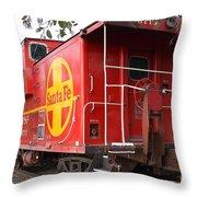 Red Sante Fe Caboose Train . 7d10332 Throw Pillow