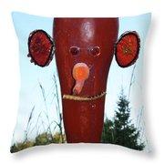 Red Scarecrow Throw Pillow