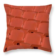 Red Seats Throw Pillow