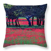 Red Shock Throw Pillow