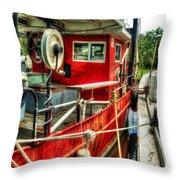 Red Shrimper Throw Pillow
